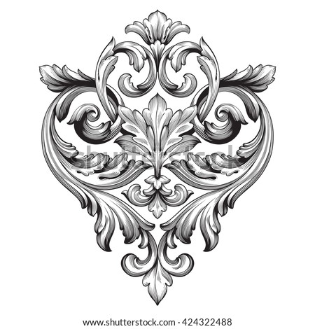 Filigree stock images royalty free images vectors for Baroque design elements
