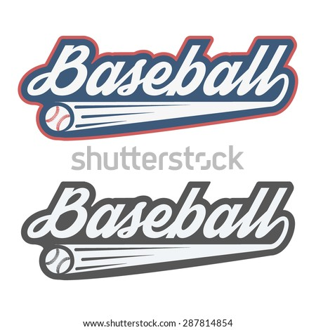 Vintage baseball label and badge. Vector Illustration isolated on white background. - stock vector
