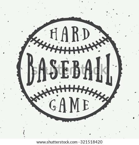 vintage baseball logo emblem badge vector stock vector 318958631