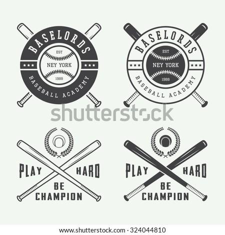vintage baseball sports logo emblem badge stock vector 334776047