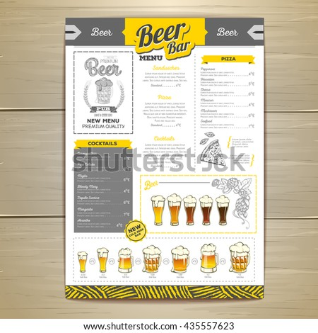 Beer Menu Stock Images RoyaltyFree Images  Vectors  Shutterstock