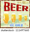 vintage beer sign, vector illustration - stock vector