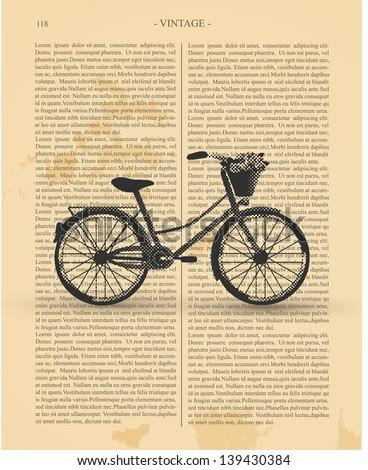 Vintage Bicycle - stock vector