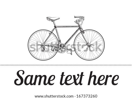 Vintage bicycle. Vector illustration - stock vector