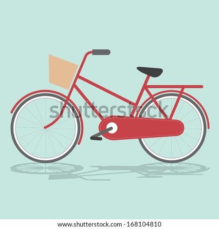 Vintage Bicycle Vintage Retro Bicycle Background. Retro Illustration Bicycle. Illustration of bicycle. Vector card with bicycle. Simple illustration of bicycle. - stock vector