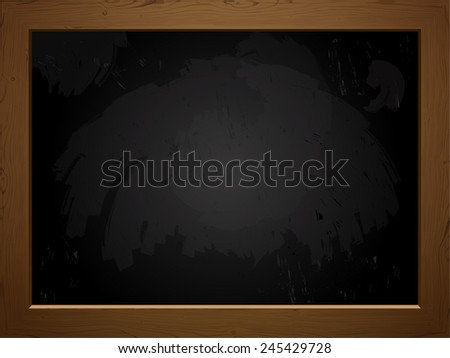 Vintage black chalk board for your designs - stock vector