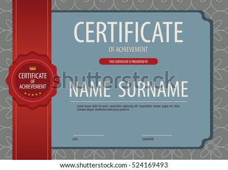 Vintage Blank Certified Border Template Vector Illustration
