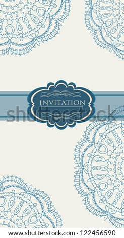 Vintage blue Christmas background for invitation, backdrop, card, new year brochure, banner, border, wallpaper, template, texture vector eps 10 - stock vector
