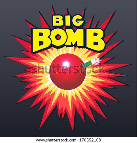 Vintage Bomb explosion - stock vector