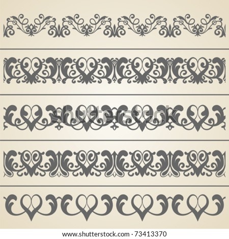 stock vector vintage border Vintage Border Vector