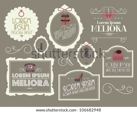 vintage borders/frames vector/illustration - stock vector