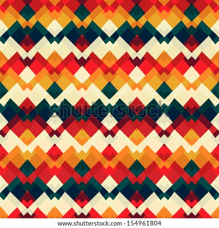 vintage bright seamless pattern - stock vector