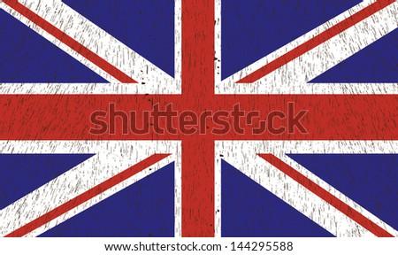 Vintage British Flag. Vector illustration. - stock vector