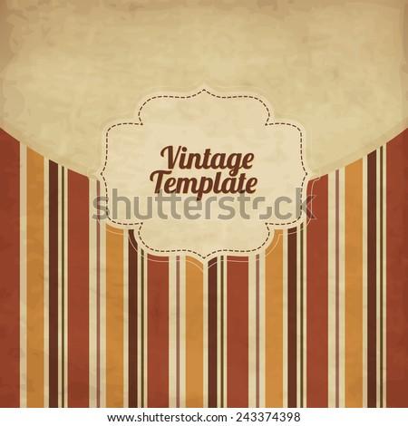Vintage brown template - stock vector