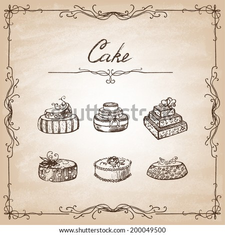 Stock Images similar to ID 183776123 - hand drawn muffin ...