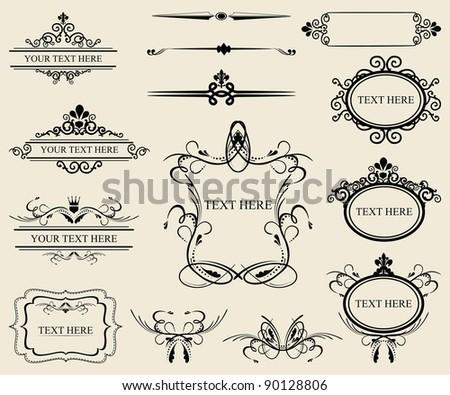 Vintage calligraphic design elements - stock vector