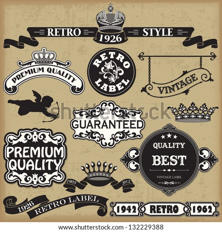 Vintage Calligraphic Design Elements Vector - stock vector