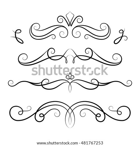 Scrollwork stock images royalty free images vectors for Decorative scrollwork