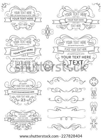 Vintage Calligraphy Design Elements Ten - stock vector
