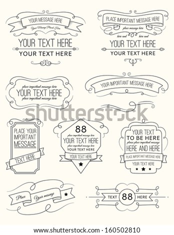 Vintage Calligraphy Elements Six - stock vector