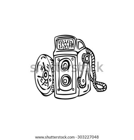 Vintage Camera - stock vector