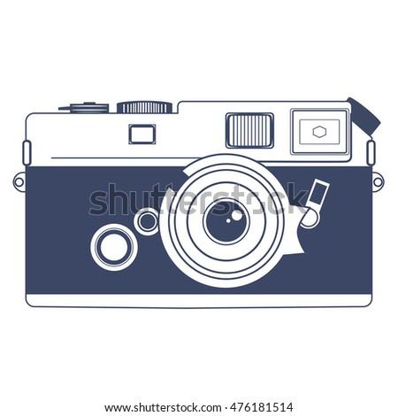 Classic Camera Cartoon Vector Illustration Hand Stock ...