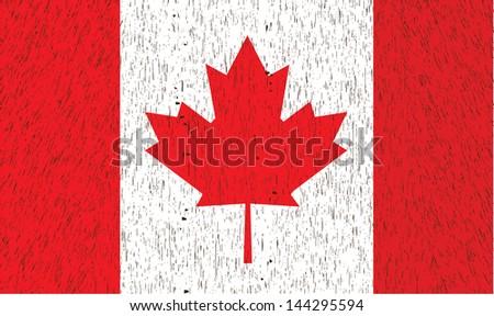 Vintage Canada Flag. Vector illustration. - stock vector