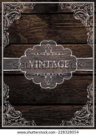Vintage Card Design. Vector - stock vector