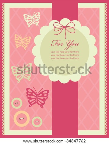 vintage card design. vector illustration