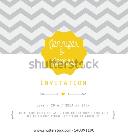 Vintage card, for invitation or announcement - stock vector