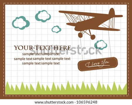 vintage card. vector illustration - stock vector
