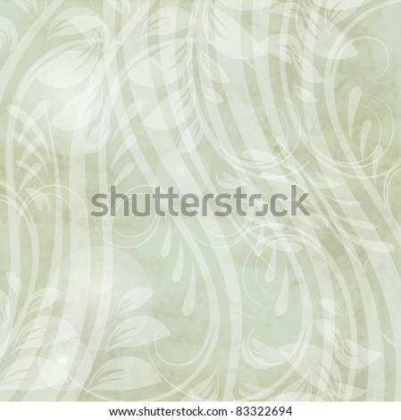 Vintage card with abstract flowers for your design - stock vector
