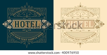 Vintage Card with Floral Details. Vector - stock vector