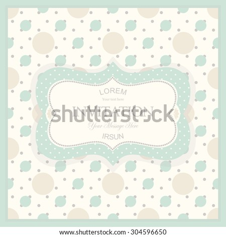 vintage card with polka dots pattern