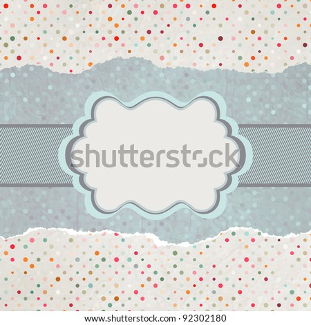Vintage card with space for text. EPS 8 vector file included