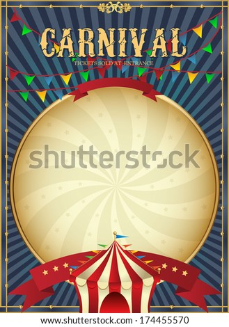 Vintage Carnival Circus Poster Template Vector Stock Vector ...