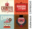 Vintage carnival/fun fair template vector/illustration - stock vector