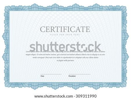 Gift Certificate Voucher Coupon Template Blue Vector – Money Voucher Template