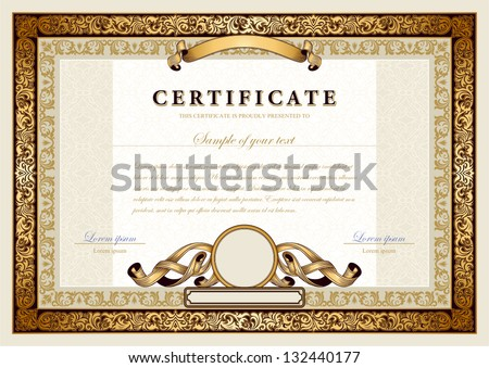 Diploma Border Stock Images, Royalty-Free Images & Vectors
