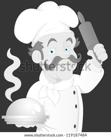 Vintage Chef Illustration - stock vector