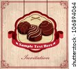 Vintage chocolate design template - stock vector
