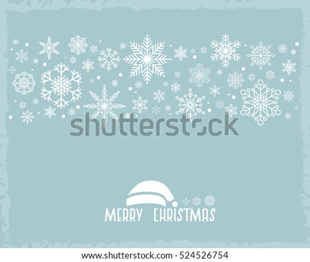 Vintage Christmas  background with snowflake