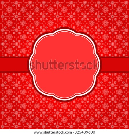 Vintage christmas frame background.  - stock vector