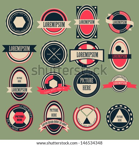 Vintage Circle Logo Vector Set - stock vector