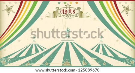 Vintage circus card. An invitation card for your circus company. - stock vector