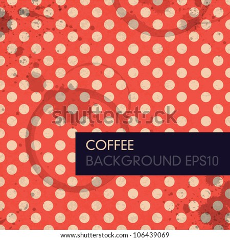 Vintage Coffee Background. Vector, EPS10