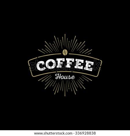 Vintage coffee badge. Sign or label for cafe, restaurant. Vector illustration. - stock vector