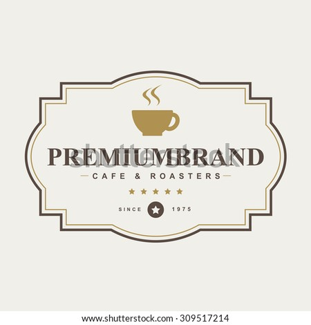 Vintage coffee badges and labels - stock vector
