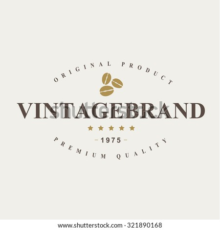 vintage coffee badges and labels.Vector eps10 - stock vector