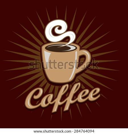 Vintage Coffee Design - stock vector